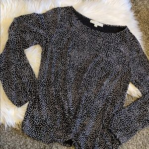 Polka Dot Twist Loft Top
